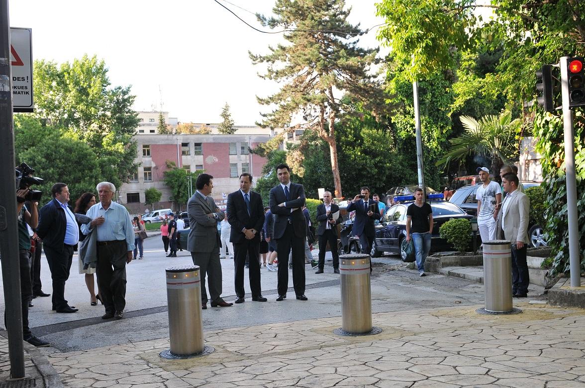 Traffic Bollards at Tirana Park