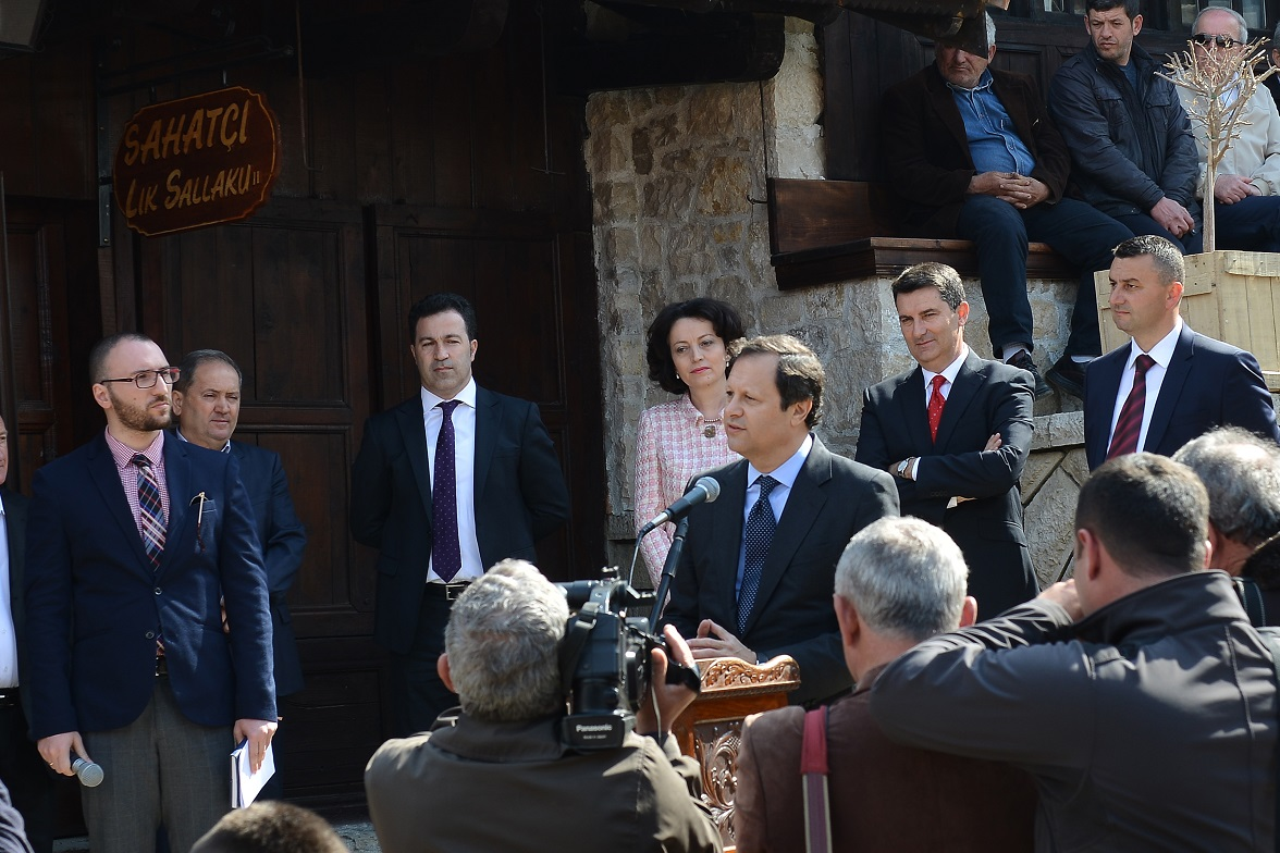 Inauguration of the Renovation of the Kruja Bazaar TID