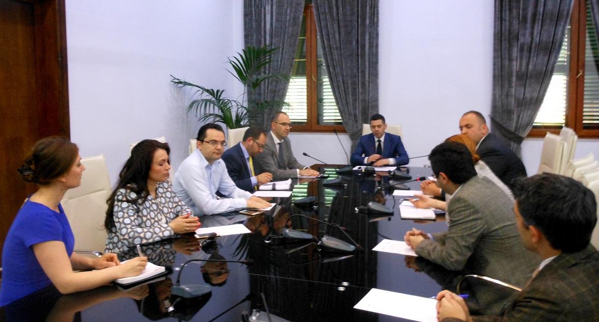 LEAD Albania Fellows and Alumni meet with Minister of Finance, Mr. Arben Ahmetaj