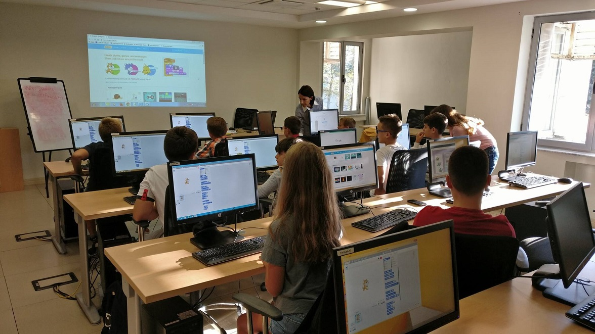 The first group of Junior Coders Academy at Protik Innovation Center.
