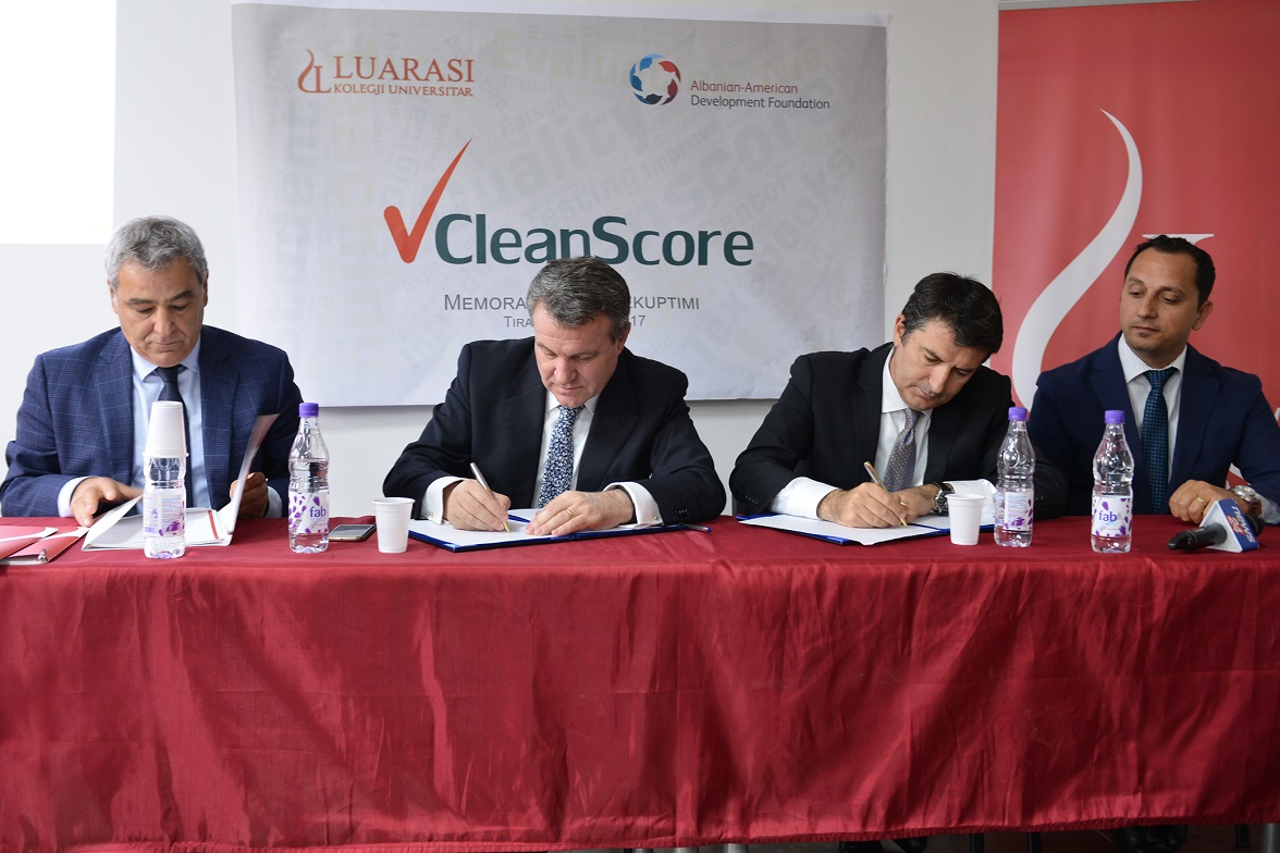 CleanScore MoU Signing at Luarasi University