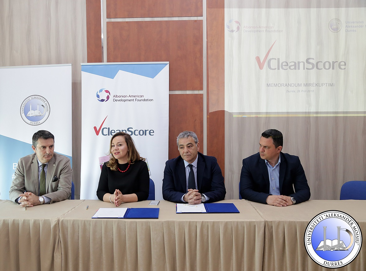 "Signing of MoU with ""Aleksandër Moisiu"" University of Durrës"