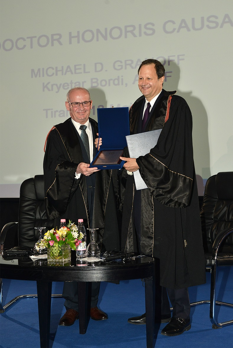 Michael Granoff honored with the title Doctor Honoris Causa