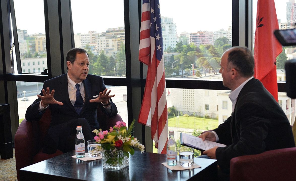 The interview of Mr. Michael Granoff, Chairman of the AADF Board, at the Voice of America, with journalist Ilirjan Agolli.