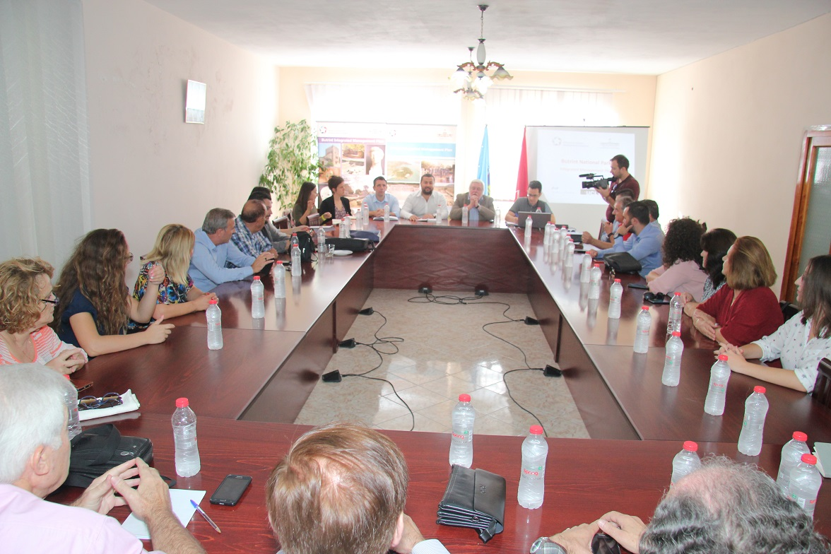 Meeting with stakeholders in Saranda for the Butrint National Park management plan