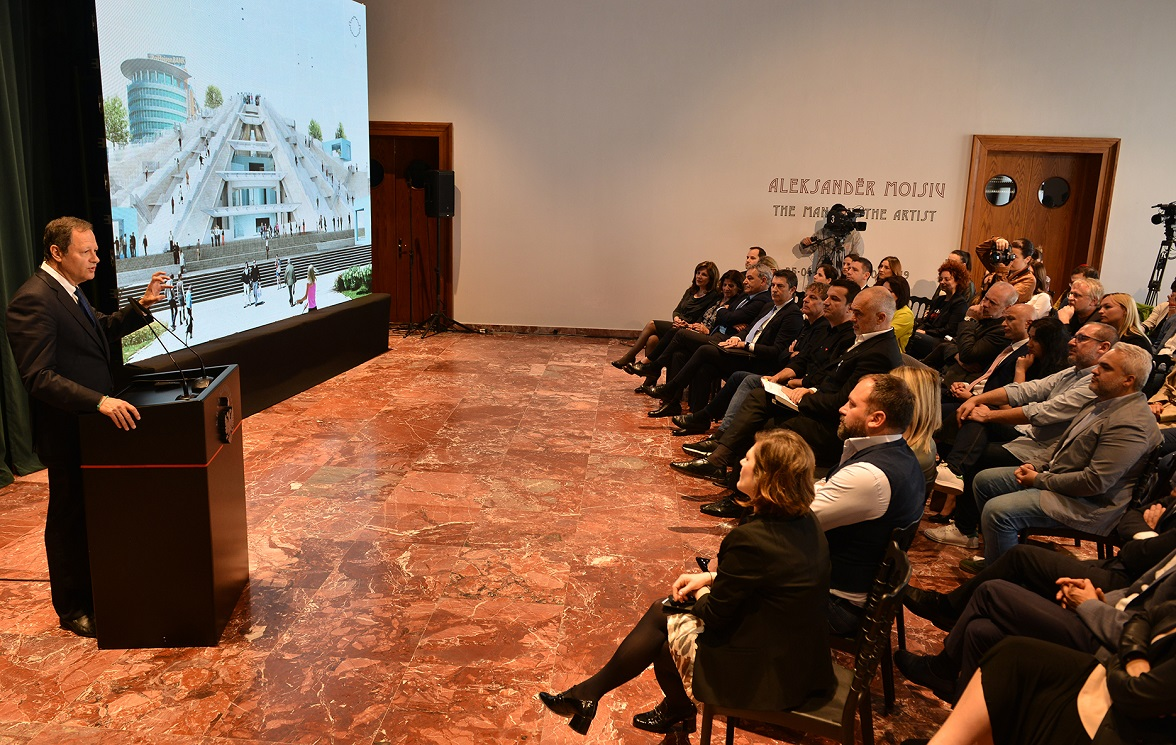 Public Presentation of Schematic Architectural Design of the Pyramid Tirana