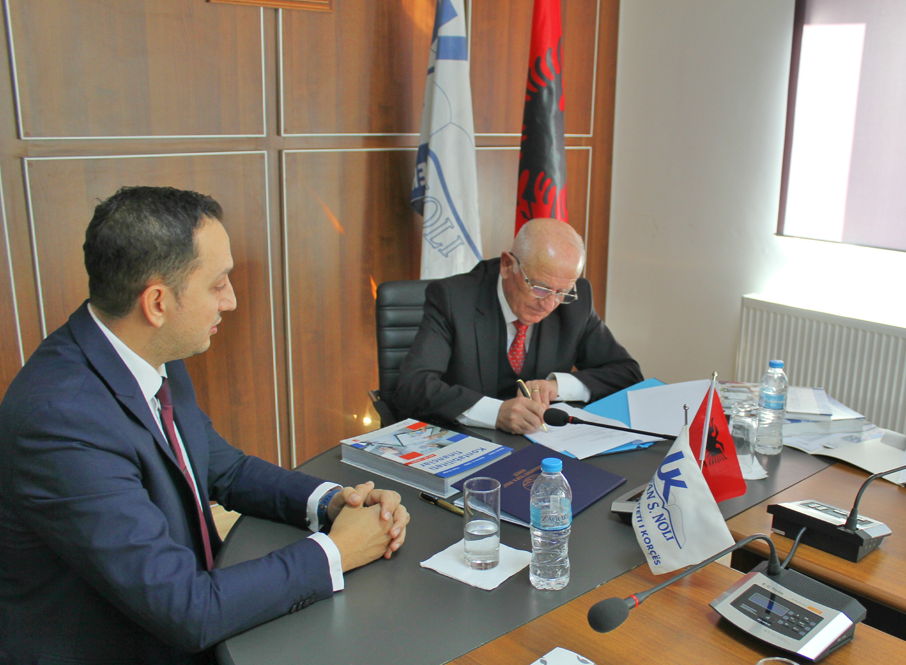 """""""CleanScore"""", signing of the project implementation Agreement at University of Korca """"Fan S. Noli"""""""