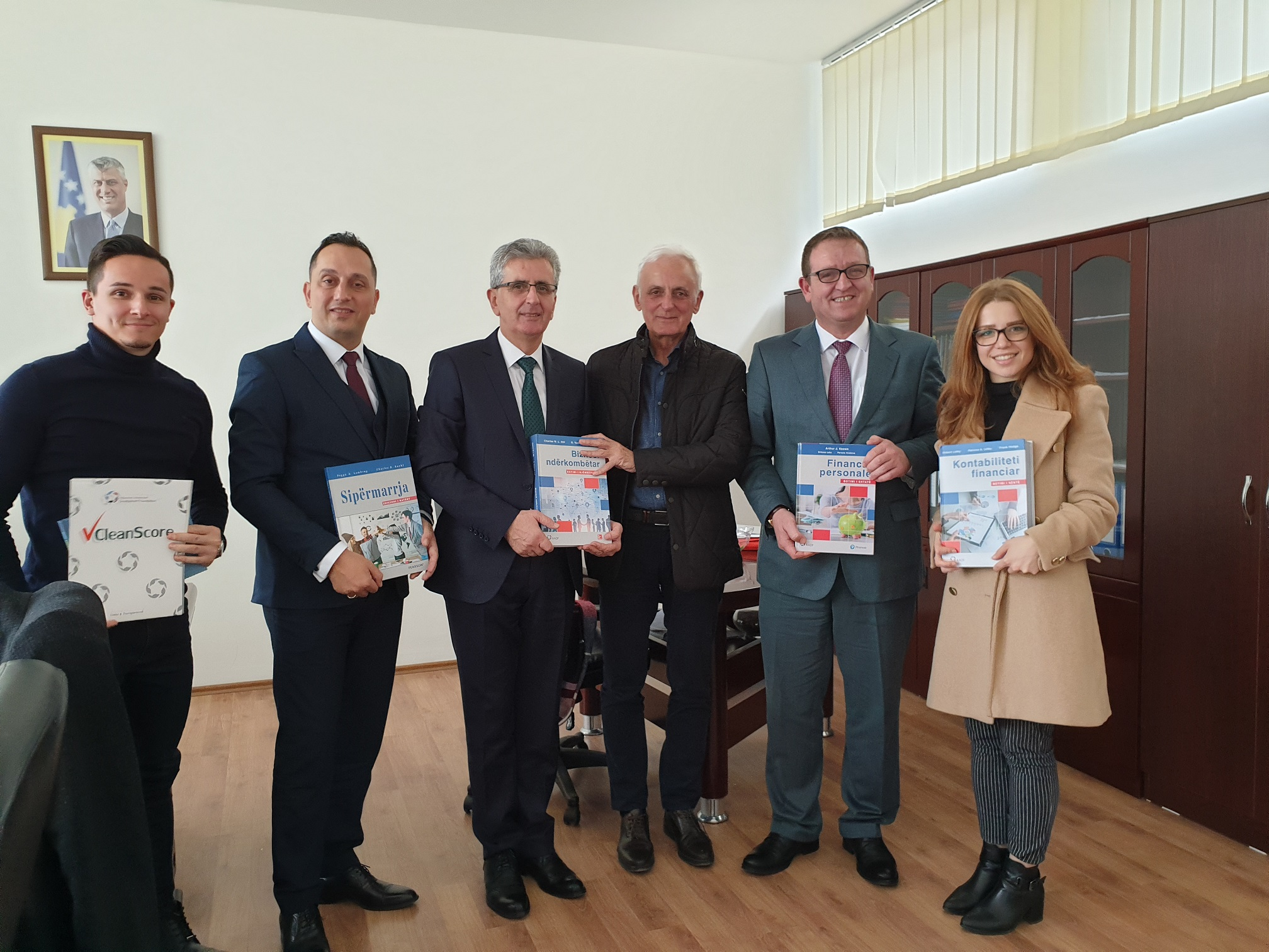 Promotion of the books in Kosovo: Financial Accounting, International Business, Personal Finance and Entrepreneurship