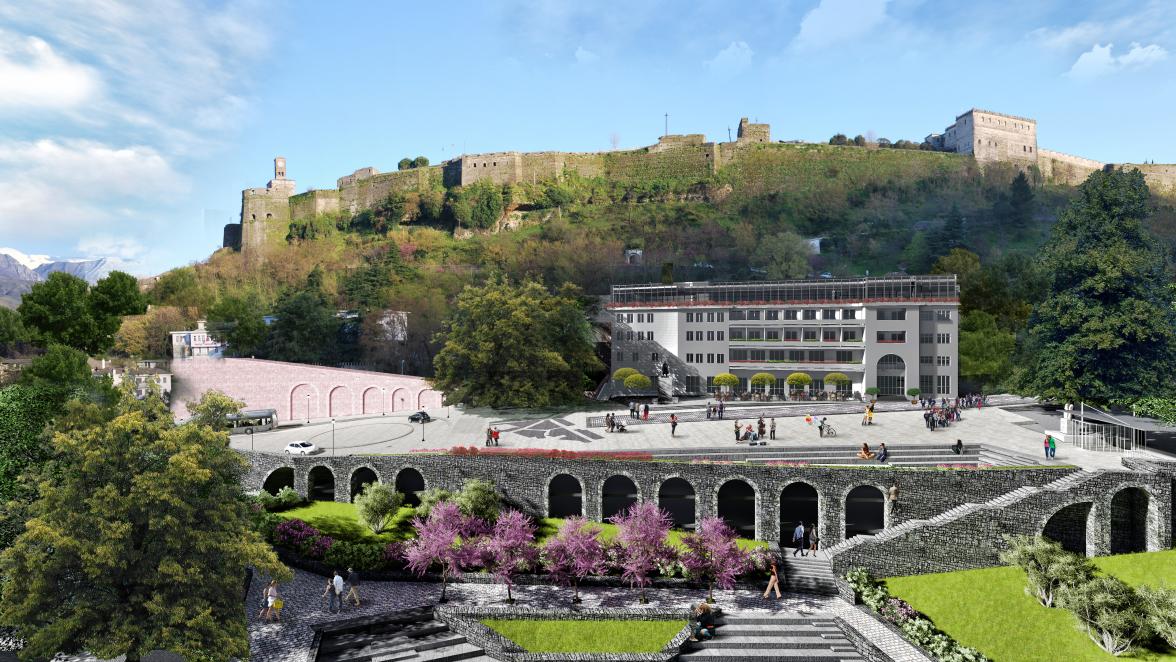 "Design Project for ""Underground Parking and Revitalization of Çerçiz Topulli square"""