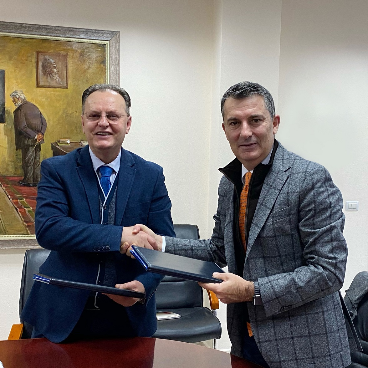 """AADF signs the """"CleanScore"""" project implementation Agreement with the University of Elbasan """"Aleksandër Xhuvani"""""""