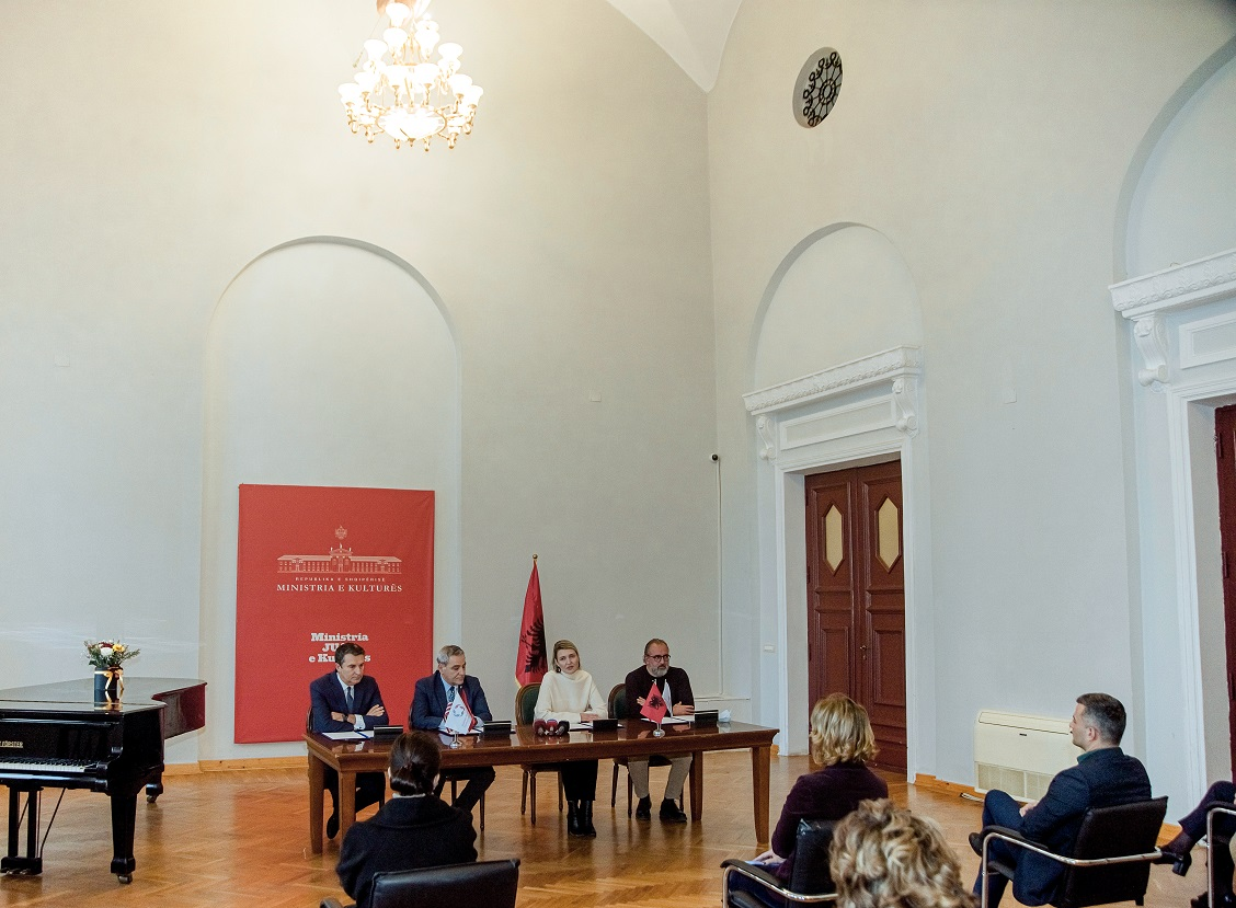 The signing of the Memorandum of Understanding for the Albanian Jewish Museum on the International Holocaust Remembrance Day