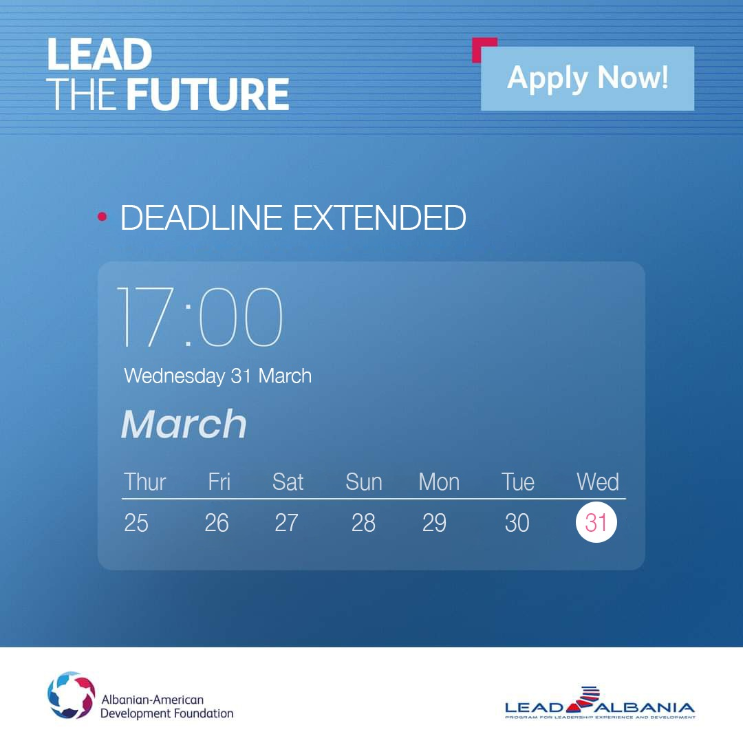 LEAD Albania – Call for Applications